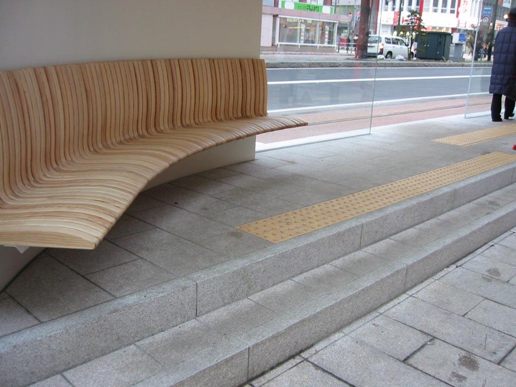 札幌市街ー市電停留所